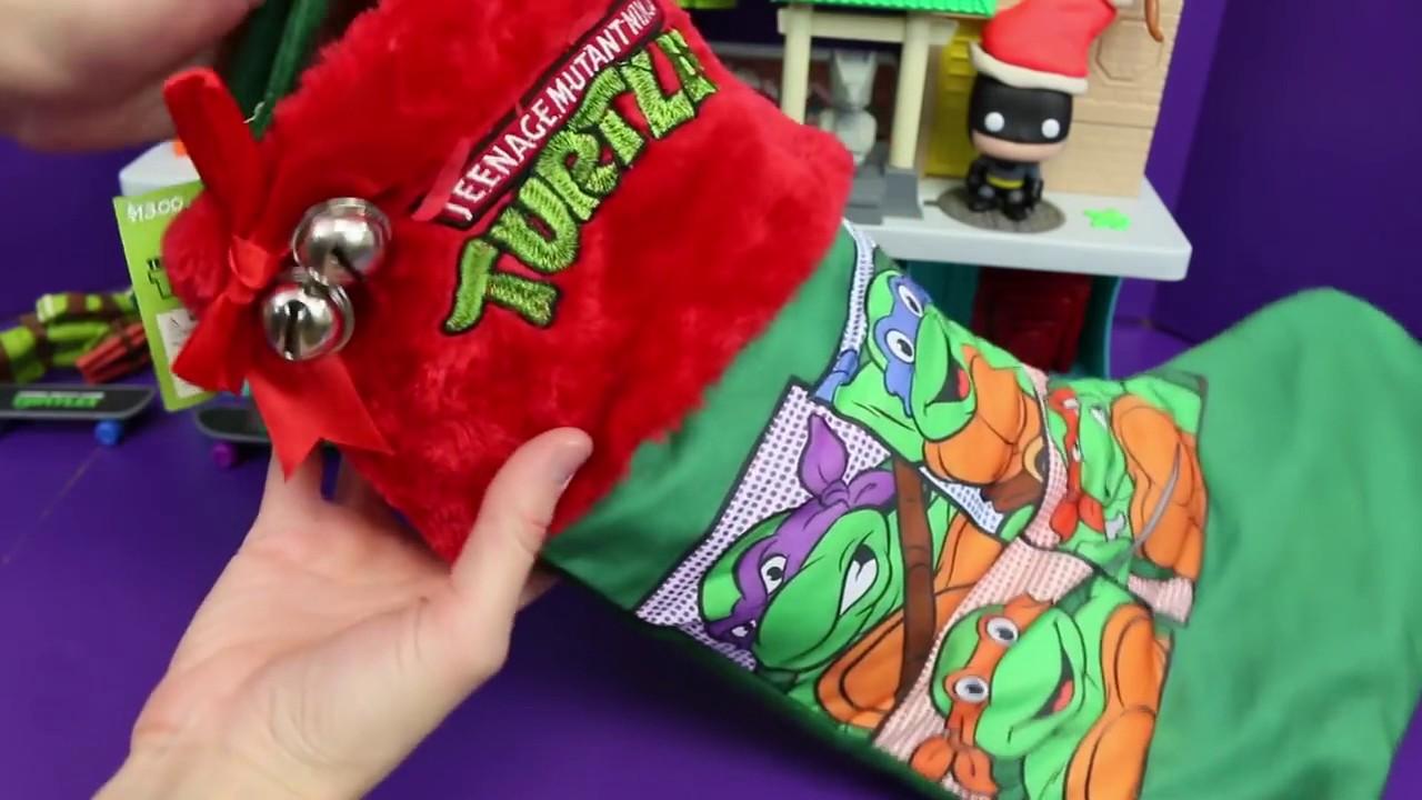 Surprise Christmas TMNT Stocking with Teenage Mutant Ninja Turtles ...