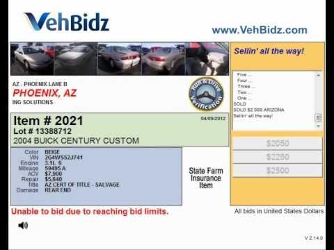 Details of auto auction Phoenix, AZ