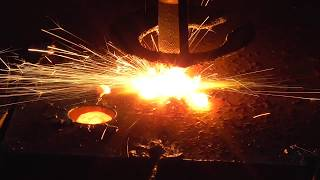 Gas flame cutting of sheet steel 16 mm, CNC