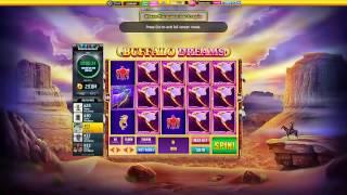 Slotomania Slot Machines | Buffalo Dreams -  first start + scatter win 10 million