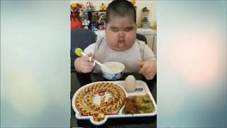 Fat Chinese Funny kid Eating Show 2019