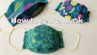 一枚の布で出来る立体マスクの作り方 / How To Sew A Mask / 大人用 子供用  / 型紙なしで簡単 / Sewing Tutorial / Pikku Saari (ピックサーリ)