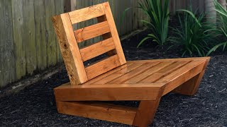 How to make an outdoor chair (clever easy store design)