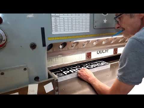 Guillotining Vinyl Stickers