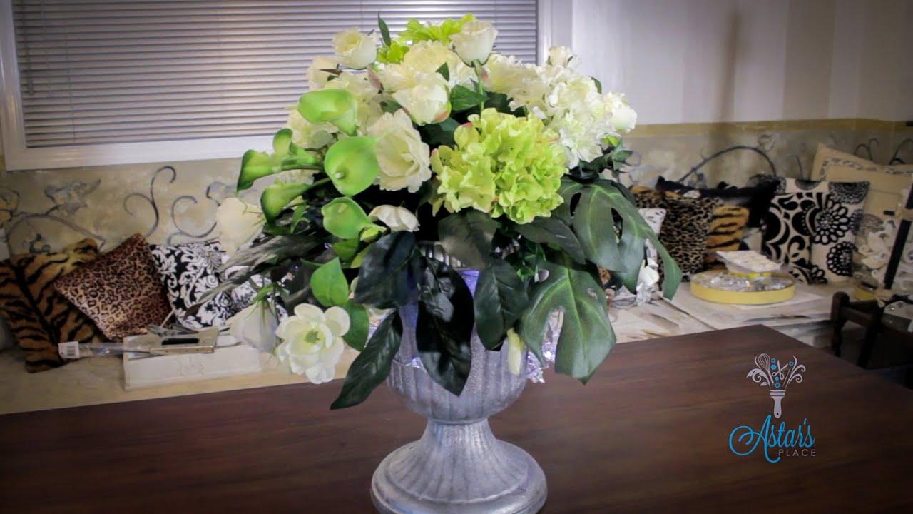 Floristry Tutorial: Christmas Floral Urn Designs - YouTube