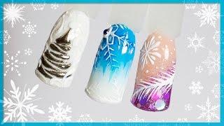Новогодний дизайн ногтей 2017 с новинками: Битое стекло, Зеркальная втирка, Конфетти маникюр