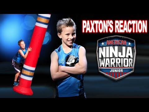 Paxton Myler's Reaction To American Ninja Warrior Jr!