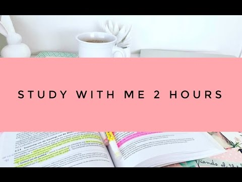 STUDY WITH ME: 2 Hour Live/Real Time Study Session (Pomodoro)