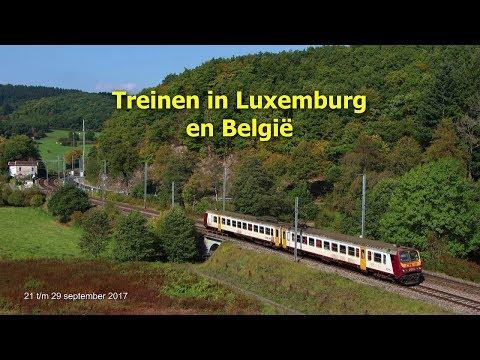 Treinen in Luxemburg en België, 21 t/m 29-09-2017