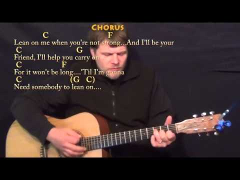 Lean on Me (Bill Withers) Guitar Cover Lesson with Chords/Lyrics