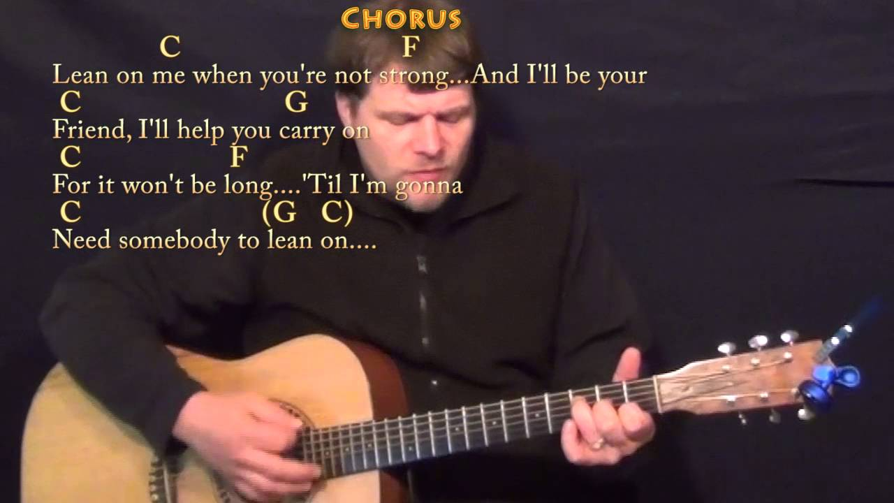 Lean On Me Bill Withers Guitar Cover Lesson With Chordslyrics