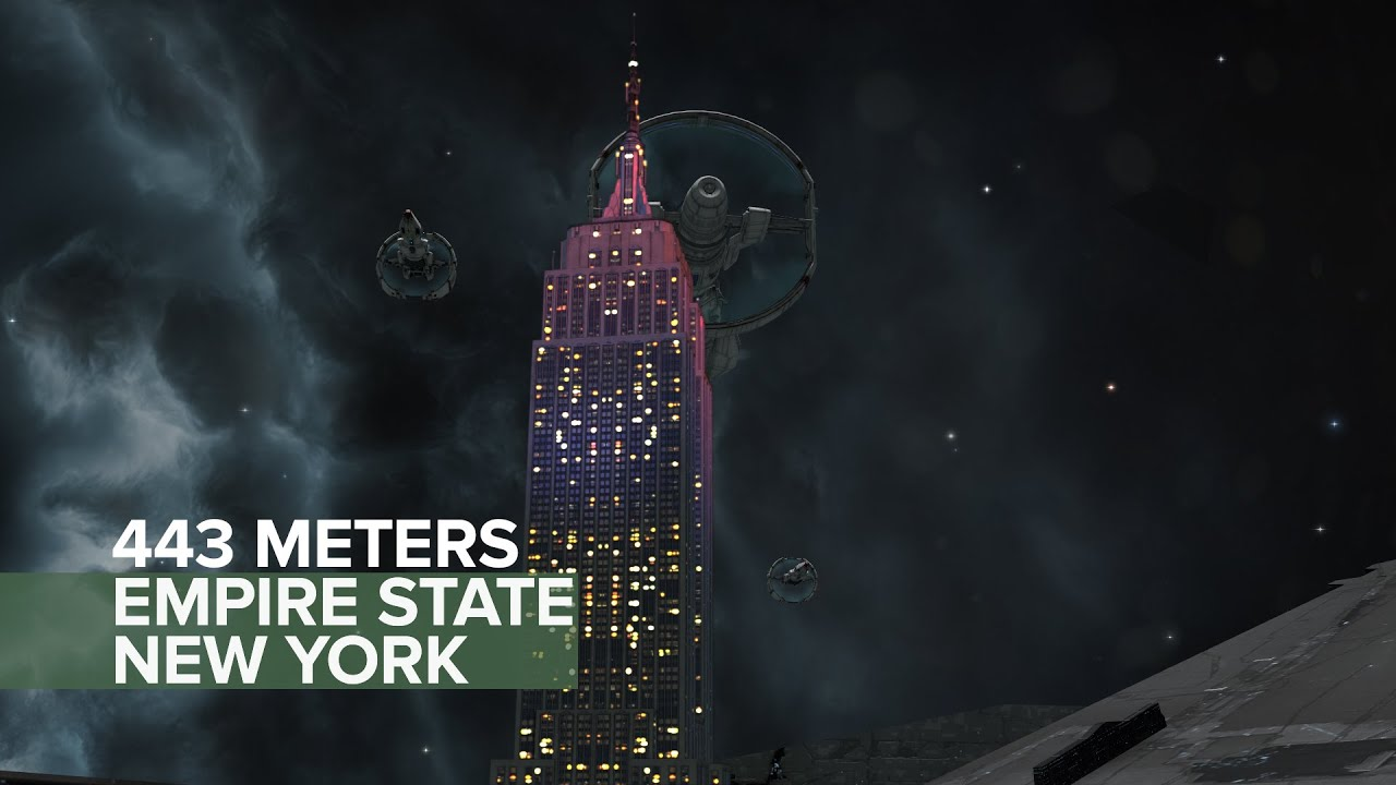Empire State Building Wallpaper Hd Eve Online Astrahus Citadel Vs Empire State Building