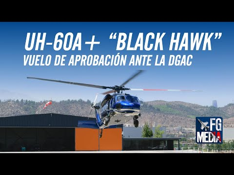 [EXCLUSIVO] Helicóptero Sikorsky UH-60A+ Black Hawk, N274TH, realiza vuelo de aprobación ante DGAC