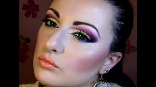 Bright Neon Summer Makeup Tutorial with Sleek ACID palette Thumbnail