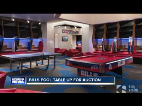 Pool table from Bills locker room up for auction