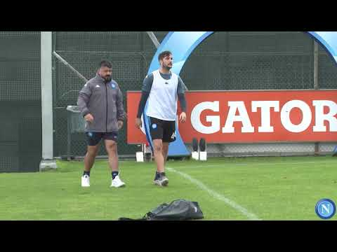 AZ - Napoli: l'allenamento di rifinitura degli azzurri