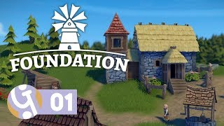 ⛪ Foundation First Look | Let's Play Foundation Ep. 01