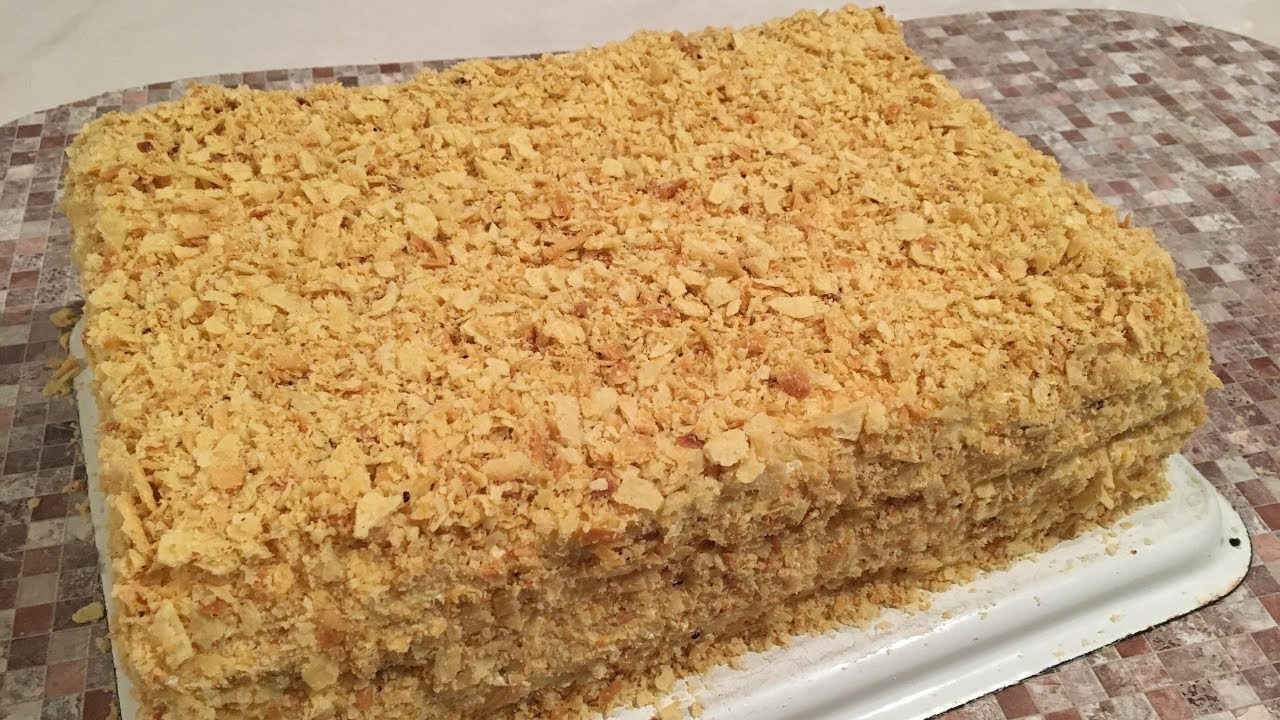Ən ideal napolen tortu ucun yuxalar/Коржи для торта Наполеон