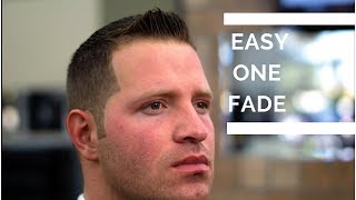 Easy 1 Fade Haircut Tutorial Step By Step Fade Youtube