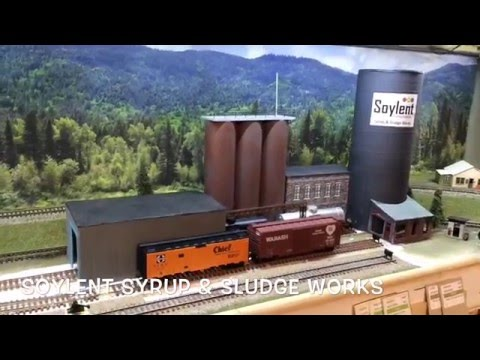 Norfolk & Soylent second look. HO scale model railroad layout