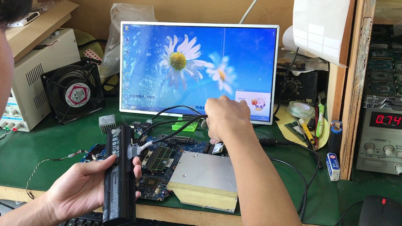 Laptop Motherboard Testing Video For HP 8470P