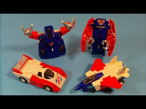1985 TRANSFORMERS COMMANDRONS SET OF 4 McDONALD'S HAPPY MEAL TOY'S VIDEO REVIEW