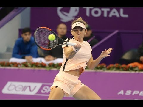 2018 Qatar Total Open Second Round | Ekaterina Makarova vs. Simona Halep | WTA Highlights