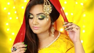 Bride || Yellow Night || Marjha Ceremony || Makeup Tutorial