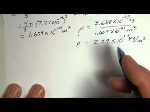 Nucleus of an Atom, Radius and Density