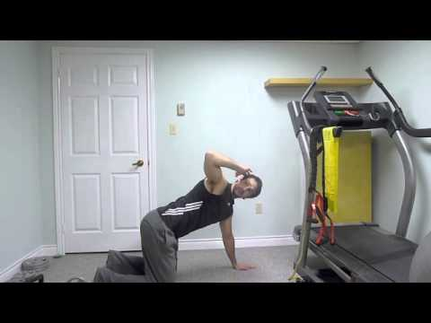 Easiest Golf Exercise – Twisting Table (Elbow to knees from plank)