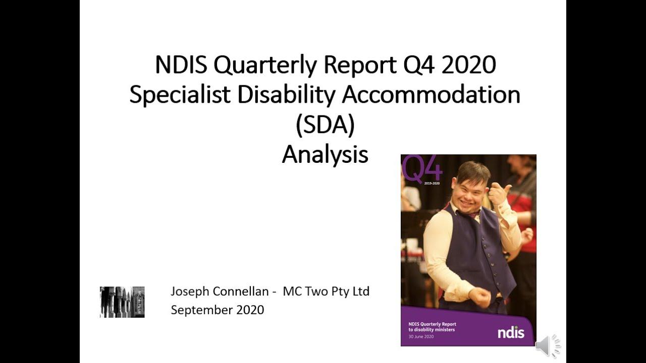 SDA Data in NDIS Q4 2020 Quarterly Report