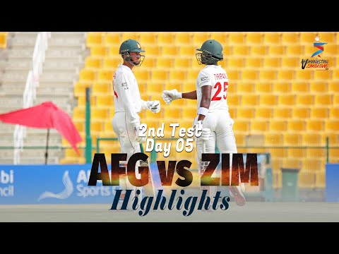 Afghanistan vs Zimbabwe Highlights | 2nd Test | Day 5 | Afgh
