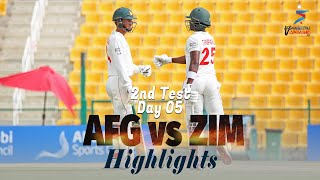 Afghanistan vs Zimbabwe Highlights | 2nd Test | Day 5 | Afghanistan vs Zimbabwe in UAE 2021