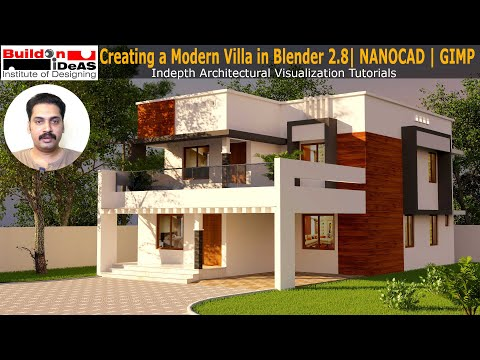 Making a Modern House in Blender   Blender 2.8 Architecture Tutorial   Cycles Render