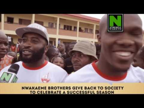 TOP STORY: NWAKAEME BROTHERS GIVE BACK TO THE SOCIETY