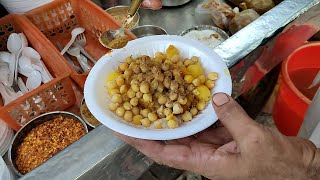 Warm Chana Chaat - Kathiawari Cholay | Ragda Masala Chana Chole | Street Food of Karachi Pakistan