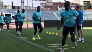 Exercices de vivacité avec les Bleus à Tirana