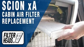 How to Replace Cabin Air Filter Scion xA