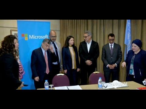 أخبار خاصة -  اتفاقية بين #الأمم_المتحدة وشركات عالمية لتوفير فرص عمل للاجئين السوريين  - 00:22-2017 / 5 / 24