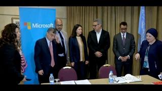 أخبار خاصة -  اتفاقية بين #الأمم_المتحدة وشركات عالمية لتوفير فرص عمل للاجئين السوريين