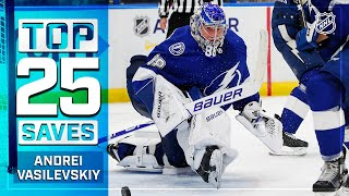 Top 25 Andrei Vasilevskiy Saves From 2019-20   NHL