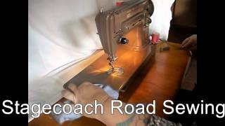 Beautiful Singer 301 Sewing Machine Demo Video
