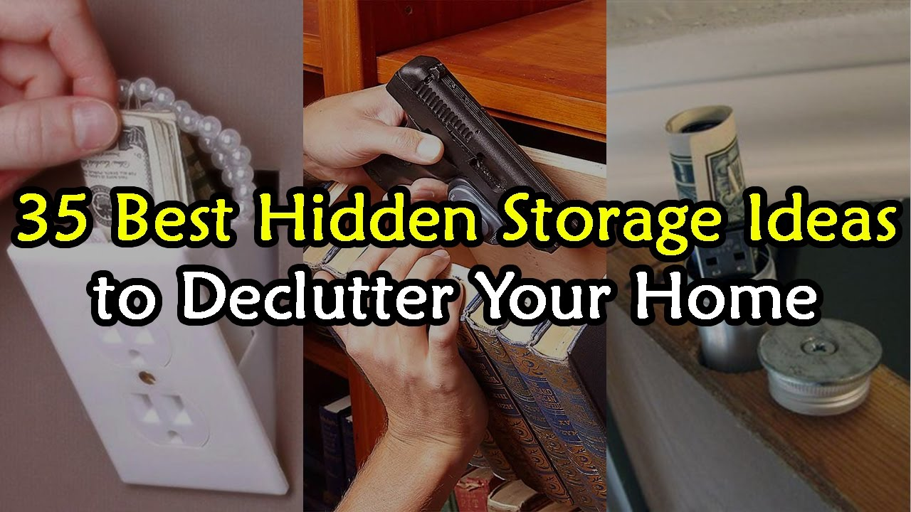 35 Best Hidden Storage Ideas To De Clutter Your House Youtube