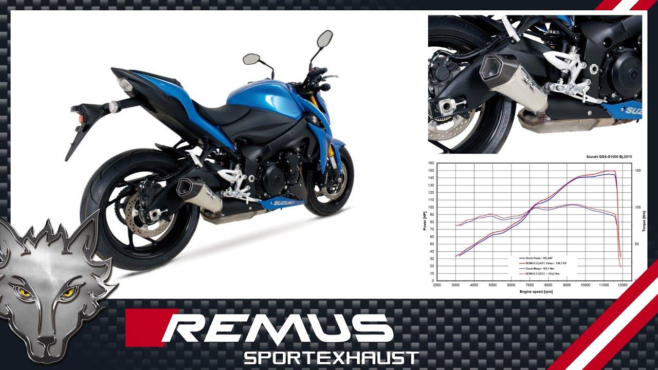 suzuki gsx s 1000 mod 2015 fitted with remus sport exhaust
