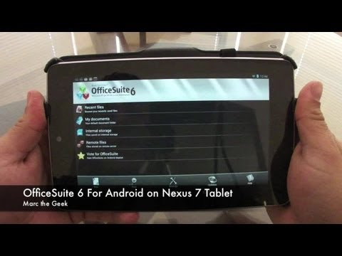 OfficeSuite 6 For Android On Nexus 7 Tablet