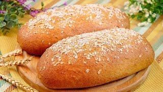 Пшенично овсяный хлеб Безопарный способ приготовления цельнозернового хлеба с овсяными хлопьями