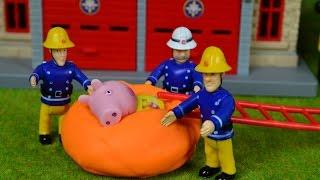 Fireman sam episode play doh rescue peppa pig Feuerwehrmann Sam