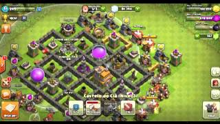ataque ao vivo na guerra com CV7 - CLASH OF CLANS