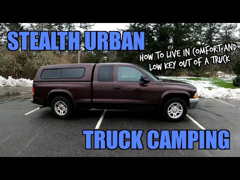 STEALTH URBAN TRUCK CAMPING