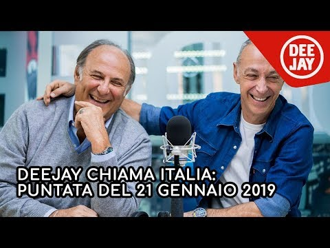 Deejay Chiama Italia - Puntata del 21 gennaio 2019, ospite Gerry Scotti